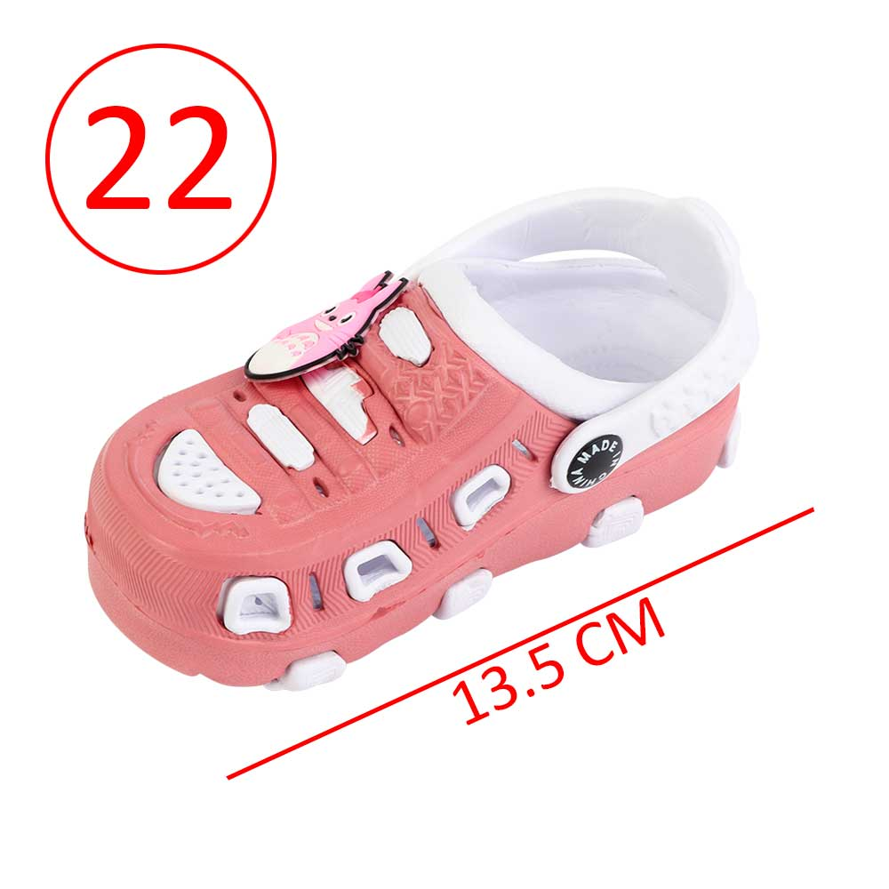 Kids Slippers Size 22 Color Pink and White متجر 15 وأقل