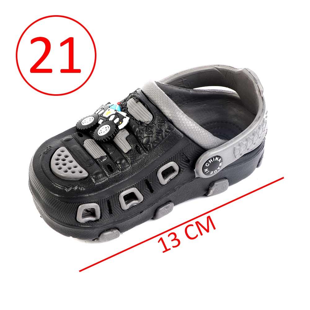 حذاء كروكس للأطفال مقاس 21 لون أسود مع رمادي متجر 15 وأقل
