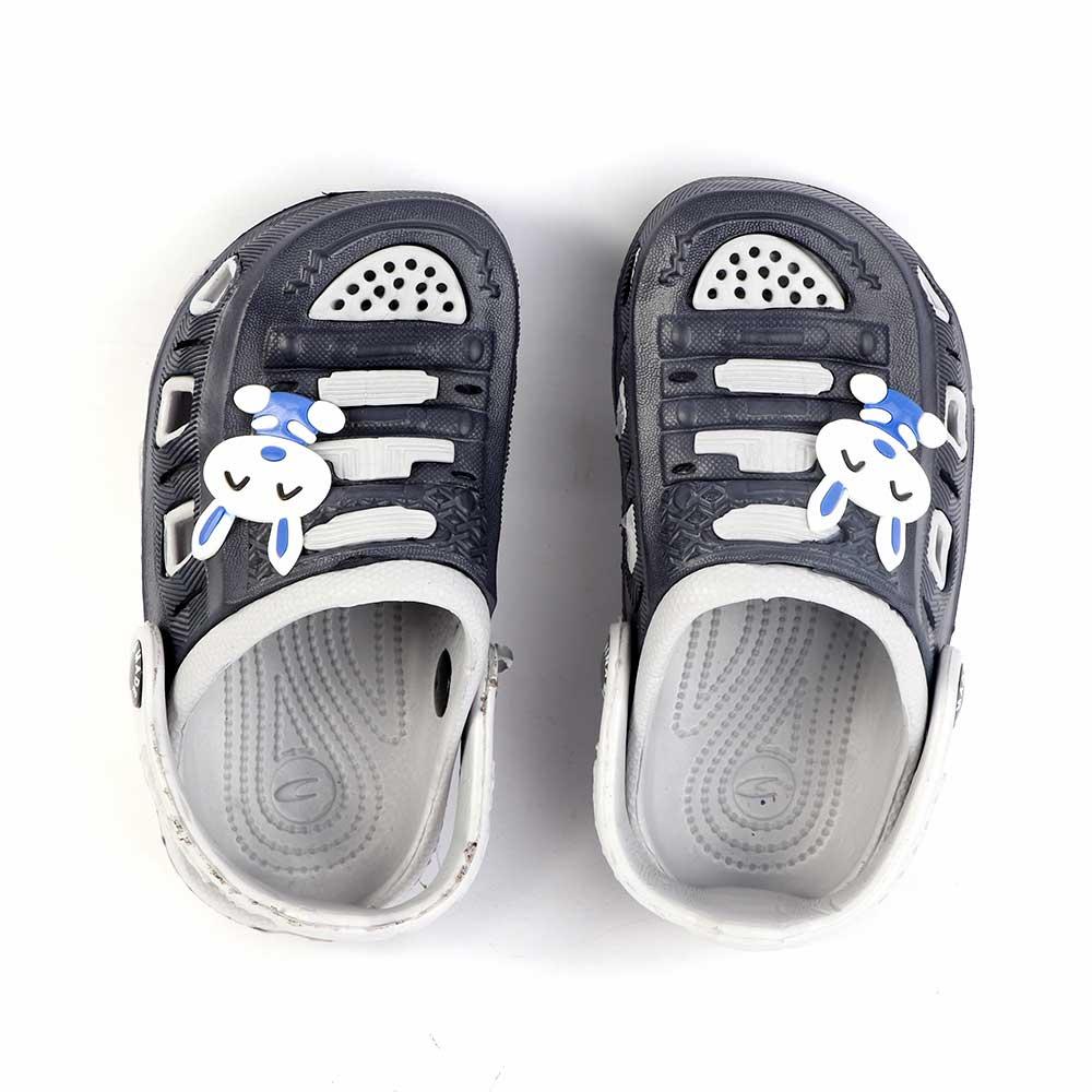حذاء كروكس للأطفال مقاس 21 لون رمادي مع أسود متجر 15 وأقل