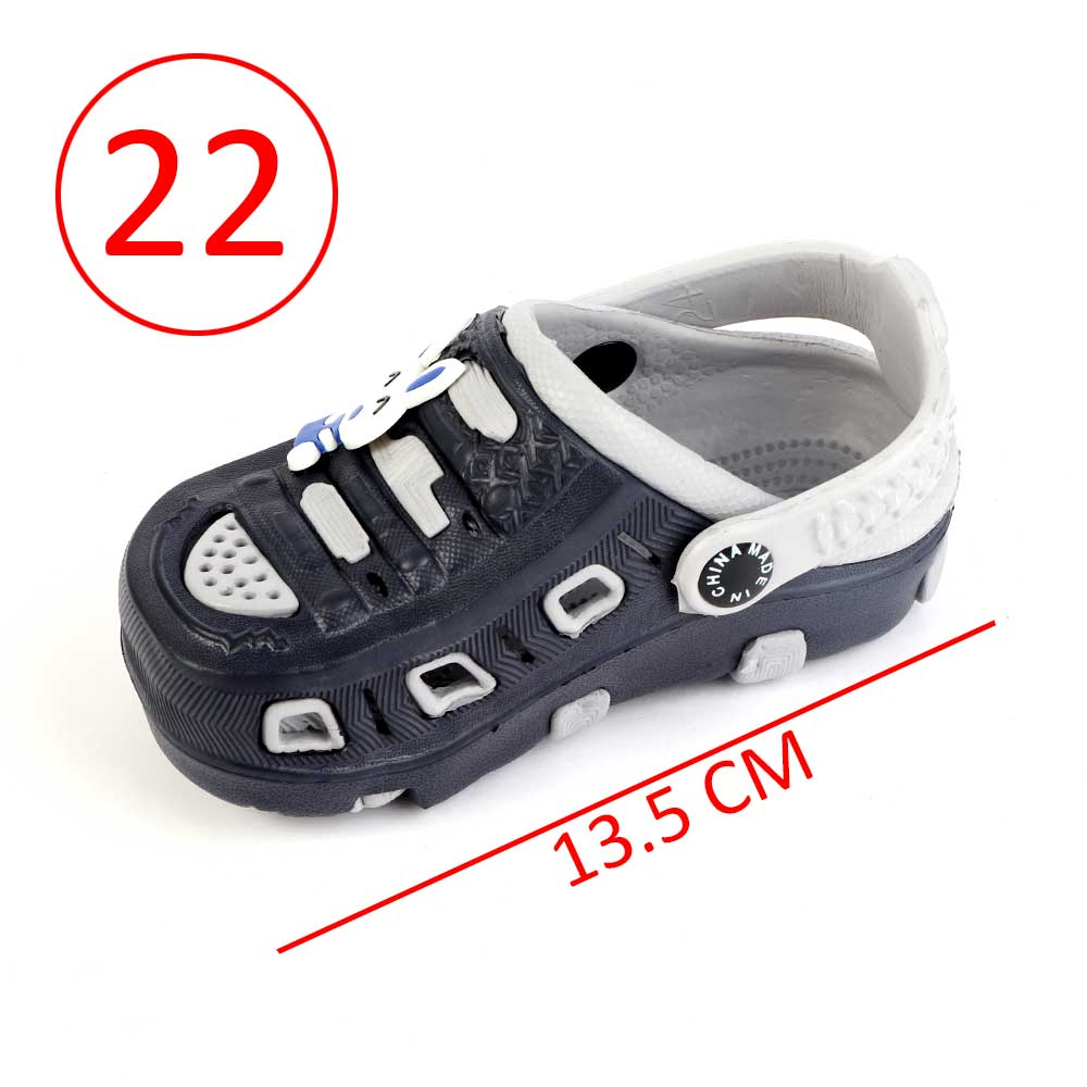 Kids Slippers Size 22 Color Gray And Black متجر 15 وأقل