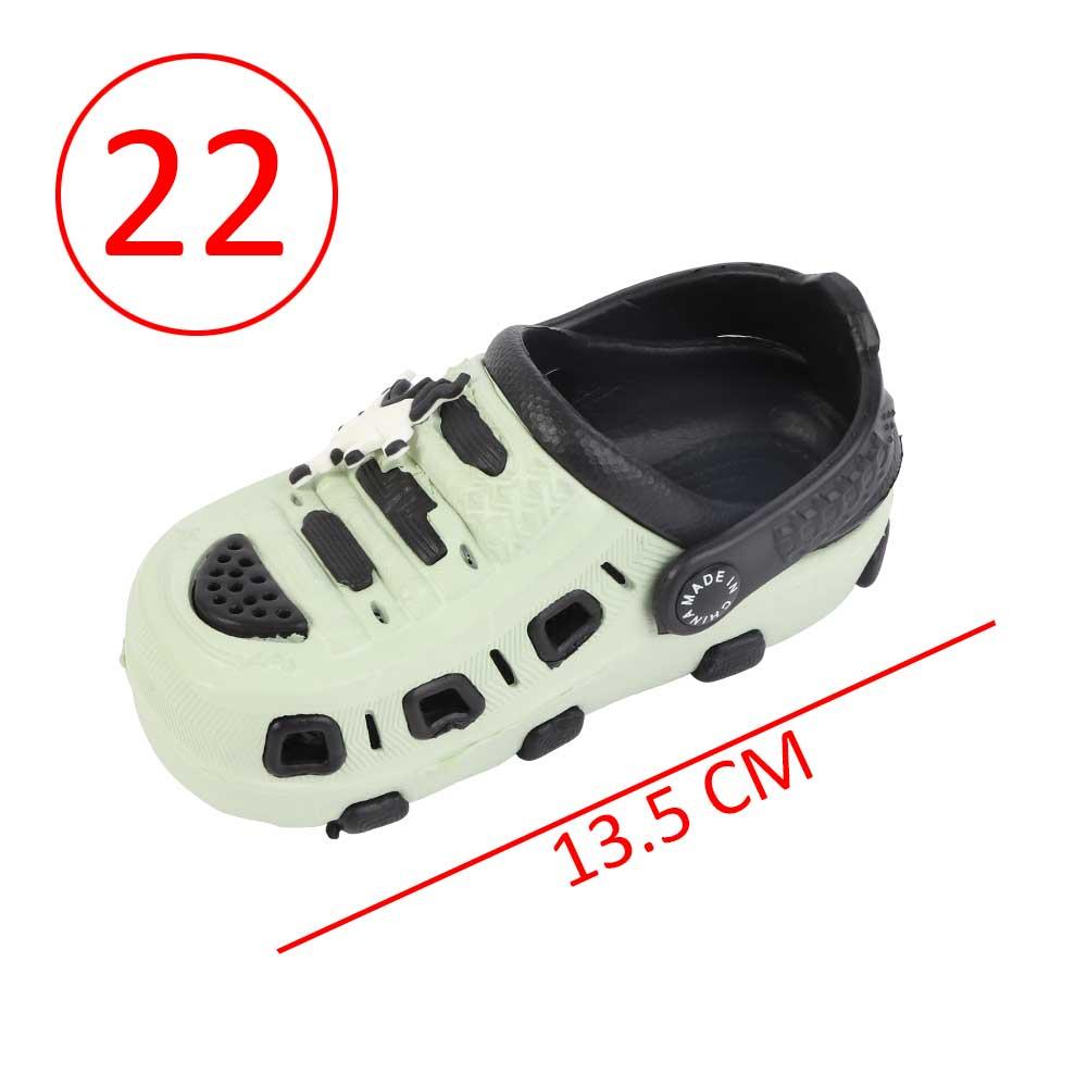 حذاء كروكس للأطفال مقاس 22 لون أخضر مع أسود متجر 15 وأقل