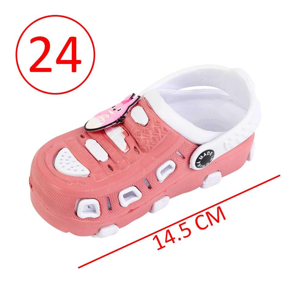 حذاء كروكس للأطفال مقاس 24 لون وردي مع أبيض متجر 15 وأقل