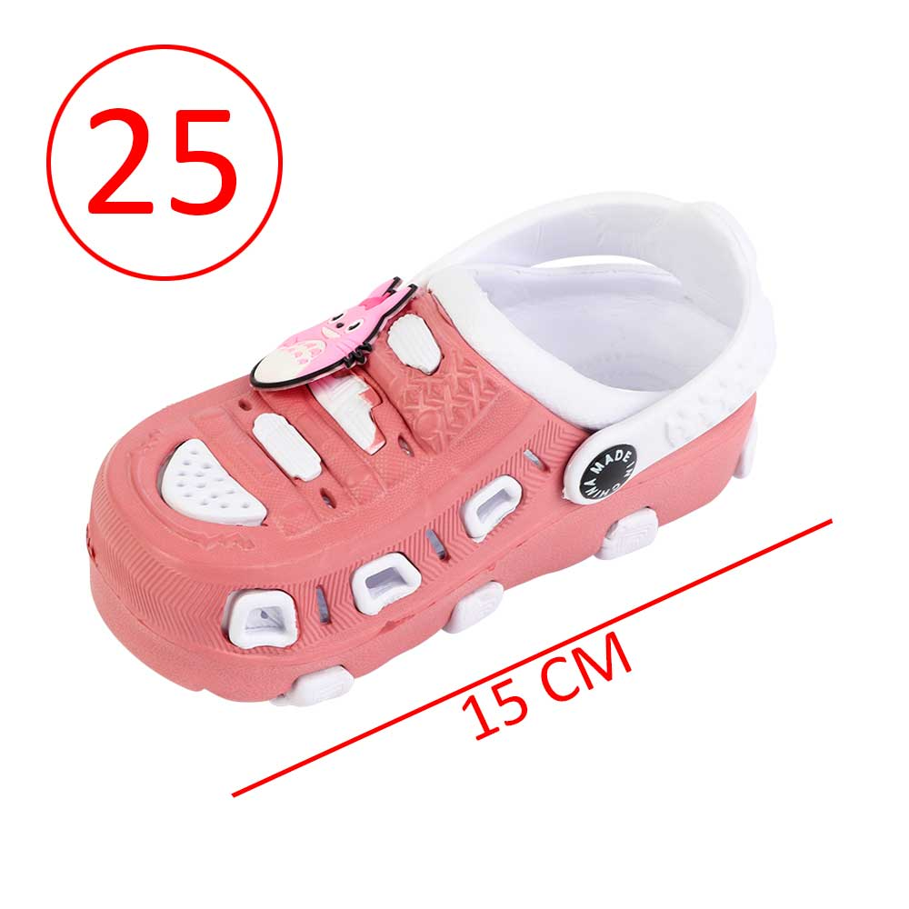 Kids Slippers Size 25 Color Pink and White متجر 15 وأقل