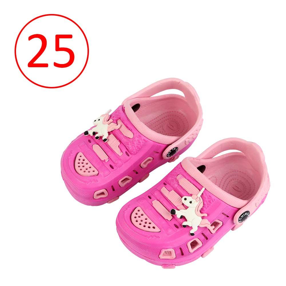حذاء كروكس للأطفال مقاس 25 لون فوشي مع وردي متجر 15 وأقل