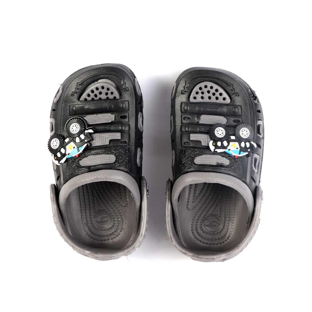 حذاء كروكس للأطفال مقاس 24 لون أسود مع رمادي متجر 15 وأقل