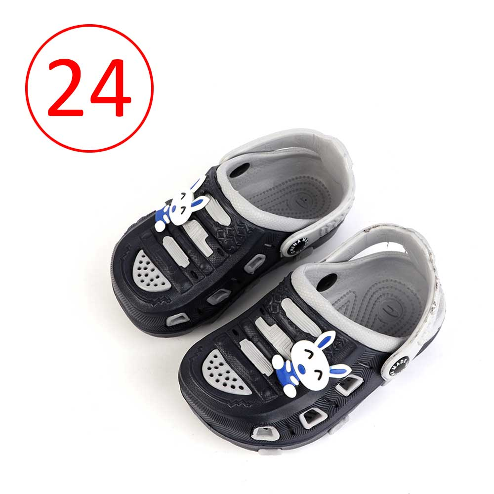 حذاء كروكس للأطفال مقاس 24 لون رمادي مع أسود متجر 15 وأقل
