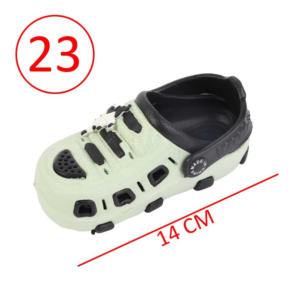 حذاء كروكس للأطفال مقاس 23 لون أخضر مع أسود متجر 15 وأقل