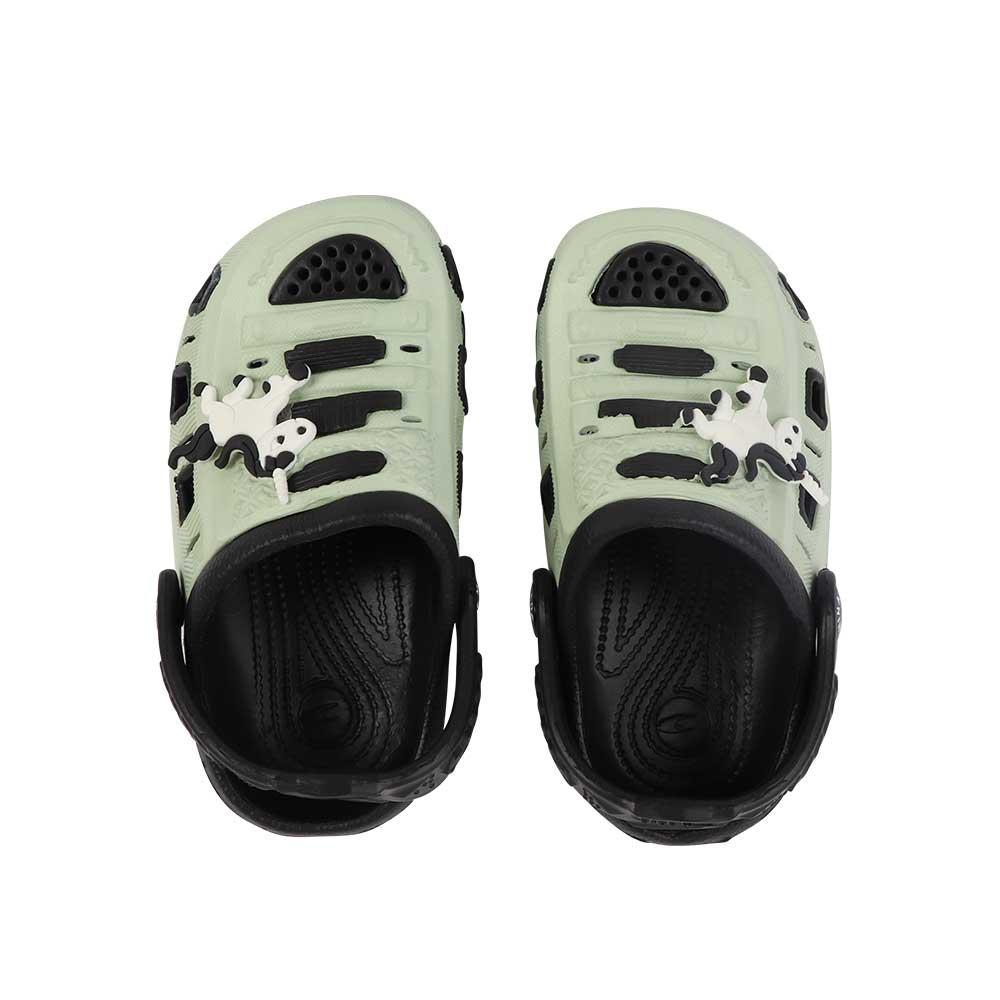 حذاء كروكس للأطفال مقاس 24 لون أخضر مع أسود متجر 15 وأقل