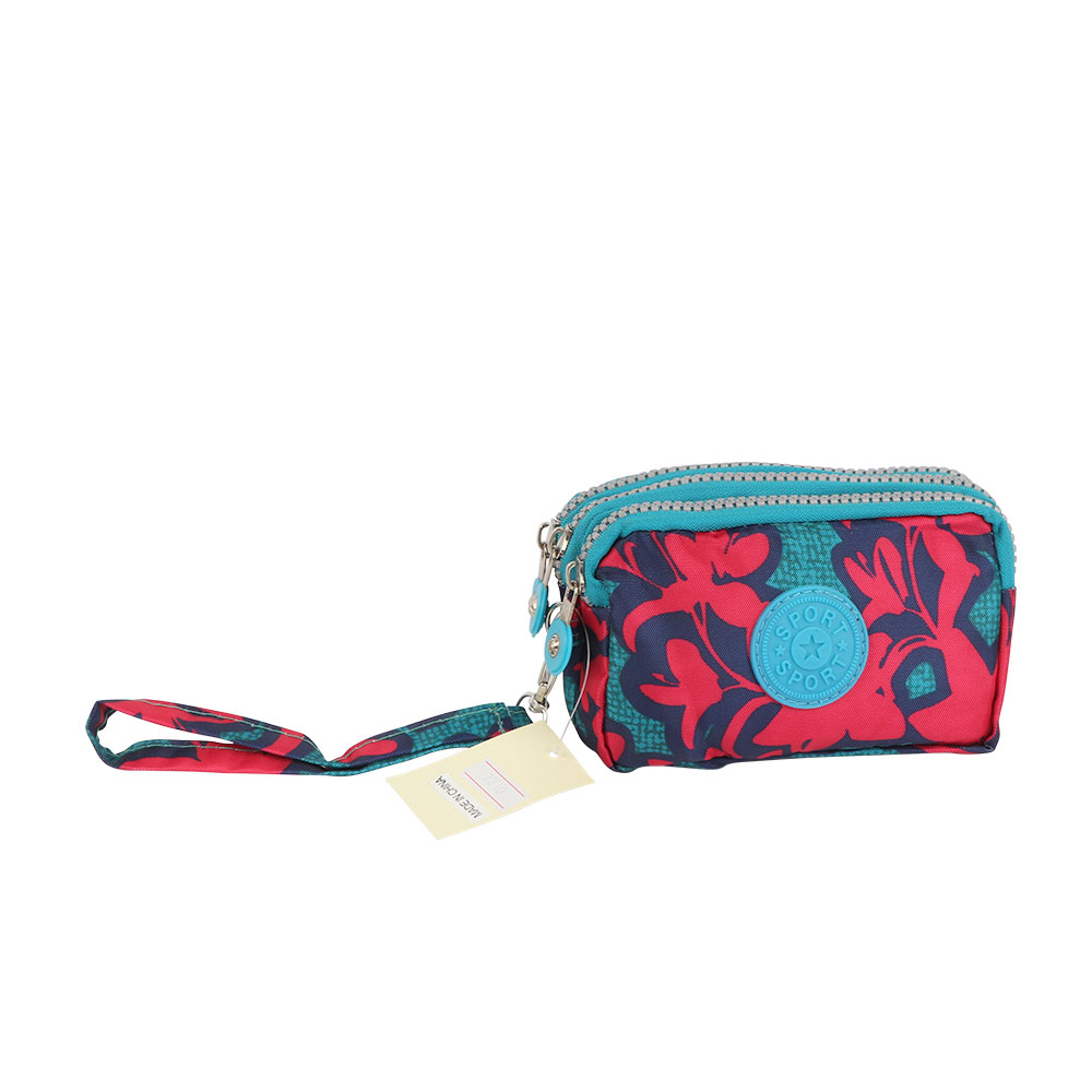 Floral Print Large Wallet For Women In Color Blue متجر 15 وأقل
