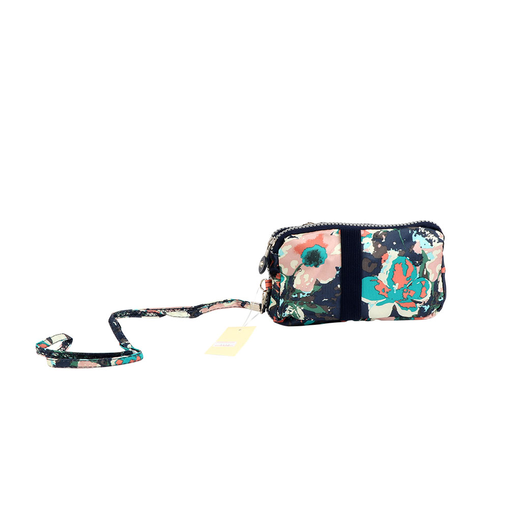 Floral Print Large Wallet For Women In Color Navy متجر 15 وأقل