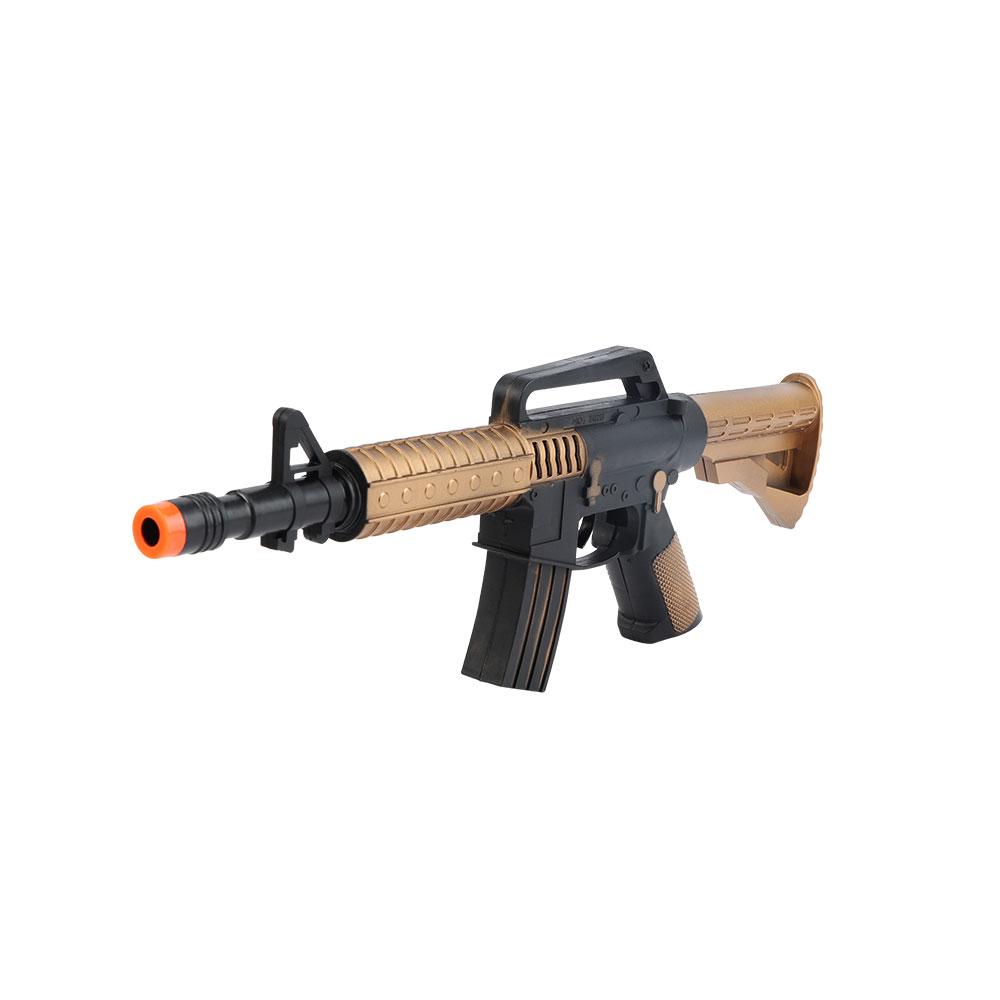 لعبة مسدس رشاش لون أسود و نحاسي متجر 15 وأقل