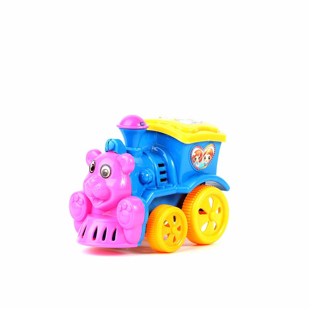 لعبة أطفال على شكل قطار لون أزرق متجر 15 وأقل
