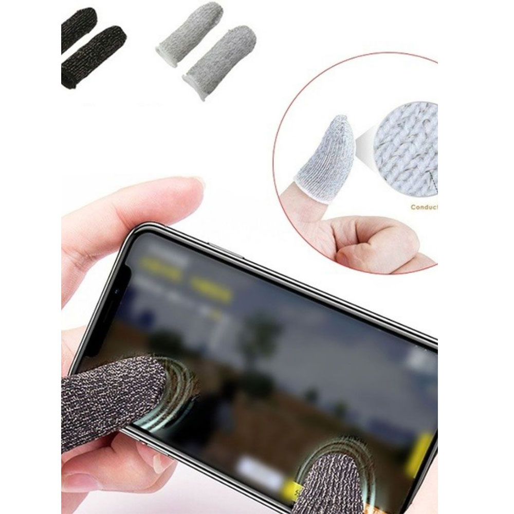 Fingers Glove For Mobile Games Color Black Two Pieces متجر 15 وأقل