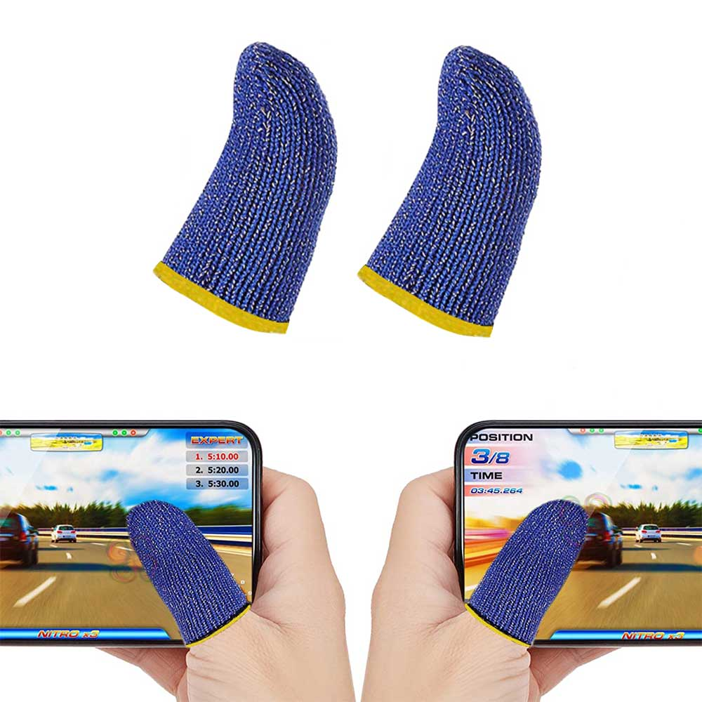 Fingers Glove For Mobile Games Color Blue Two Pieces متجر 15 وأقل