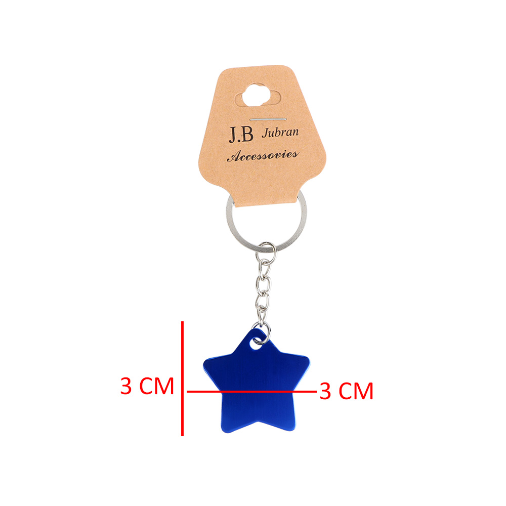 Keychain In Star Design Color Blue متجر 15 وأقل