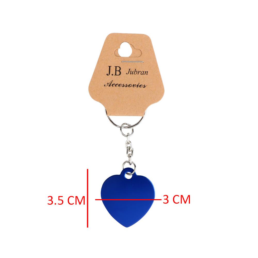 ميدالية مفاتيح على شكل قلب لون أزرق متجر 15 وأقل