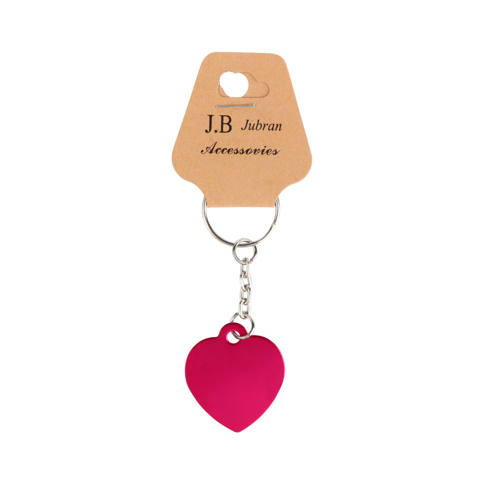 Keychain In Heart Design Color Fuchsia متجر 15 وأقل