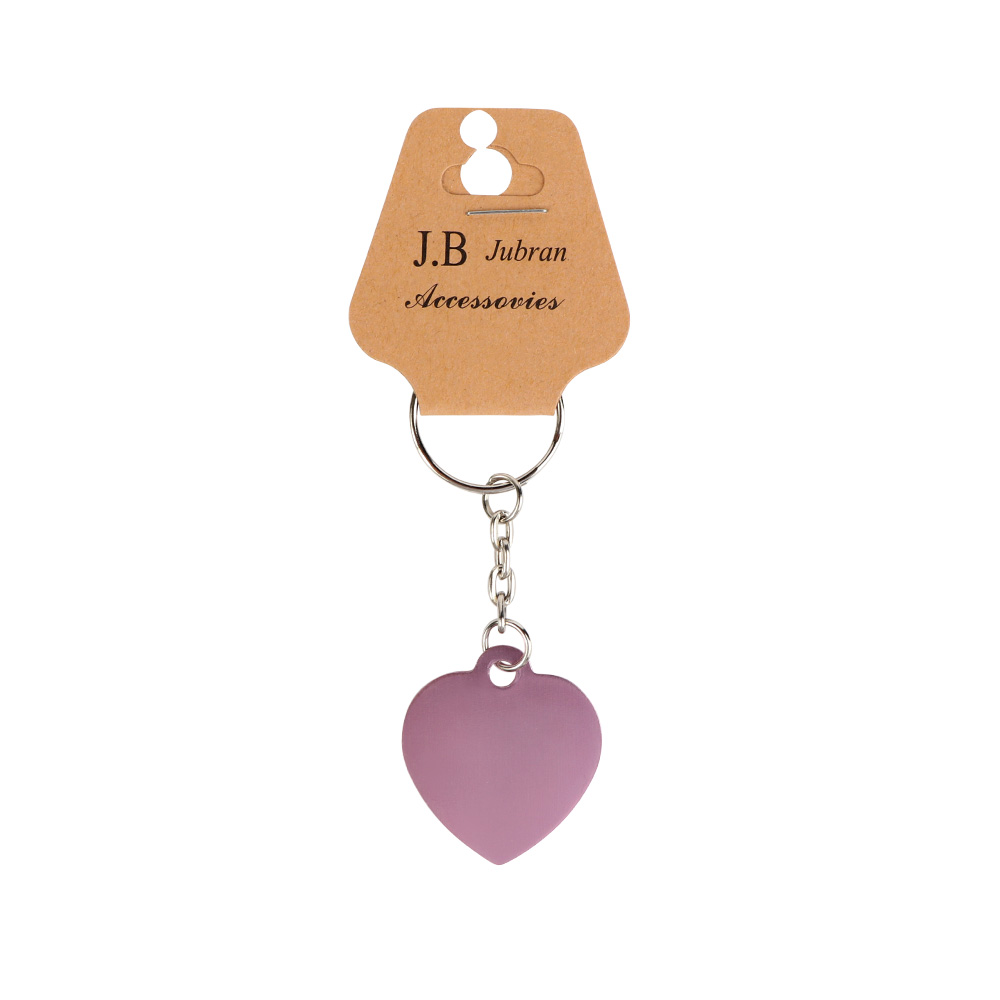 Keychain In Heart Design Color Pink متجر 15 وأقل
