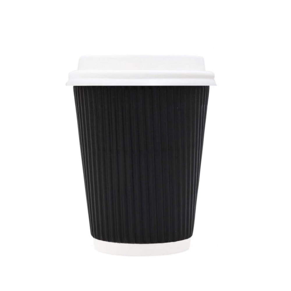 Paper Cups With Lid And Stir Stick 8-Pieces 8 oz متجر 15 وأقل