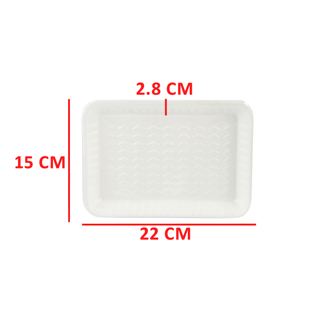 Cork Dish In white Color Rectangular 20 Pieces متجر 15 وأقل