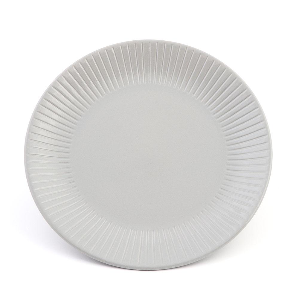 Medium Circular Ceramic Dish in Gray color with Modern Design متجر 15 وأقل