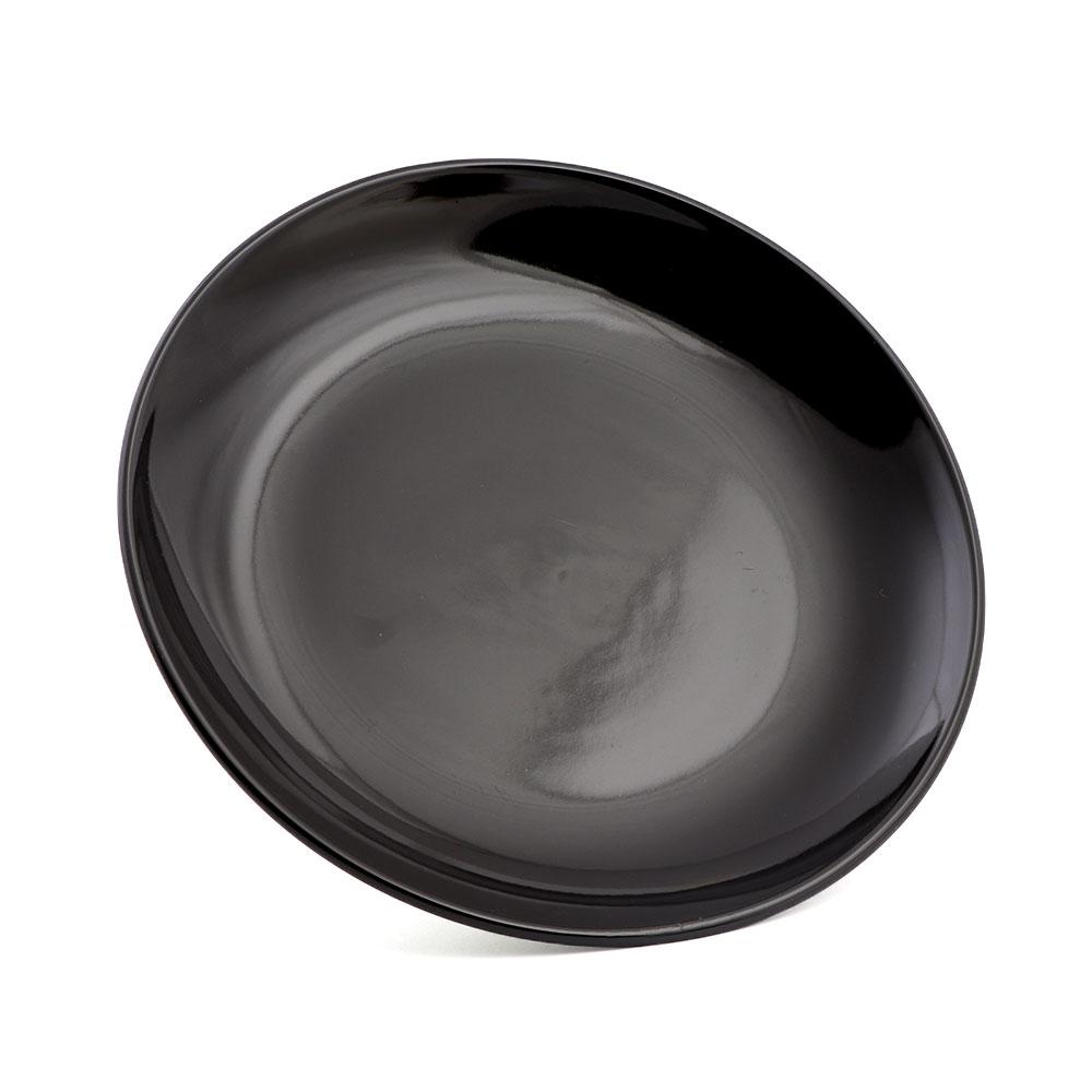 صحن سيراميك دائري كبير لون أسود بتصميم حديث وعصري متجر 15 وأقل