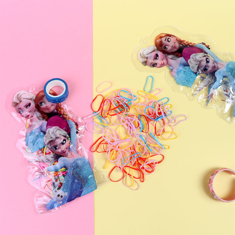 Colorful rubber bands for children in a Frozen envelope متجر 15 وأقل