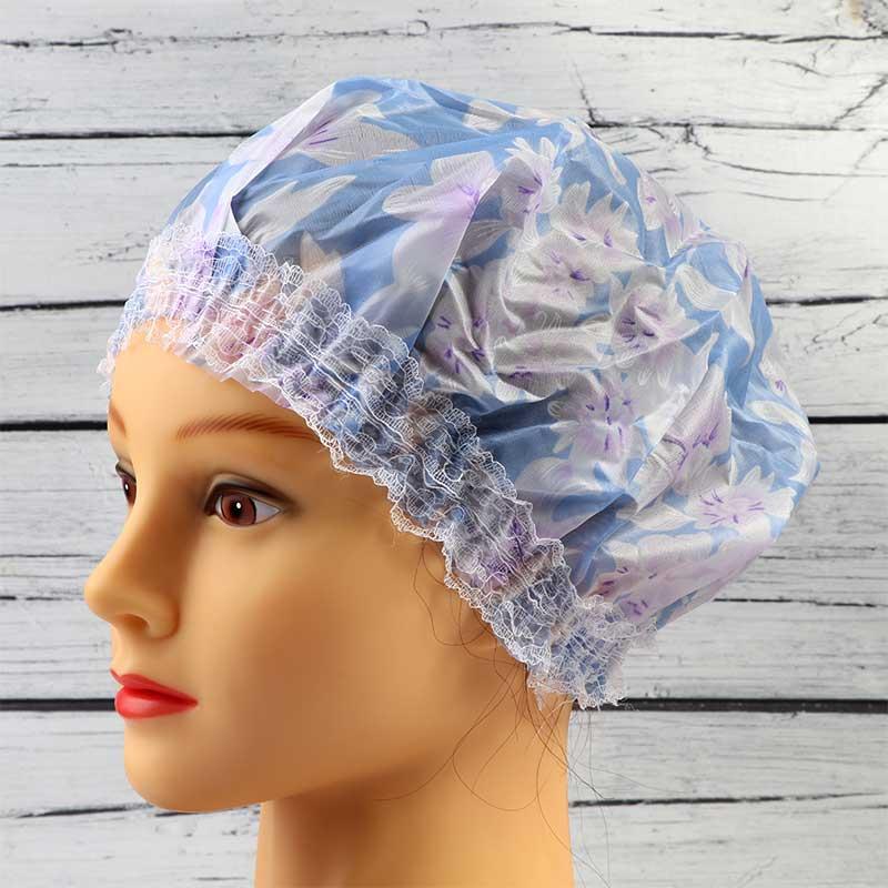 غطاء رأس للاستحمام بنقشة ورود لون ازرق متجر 15 وأقل
