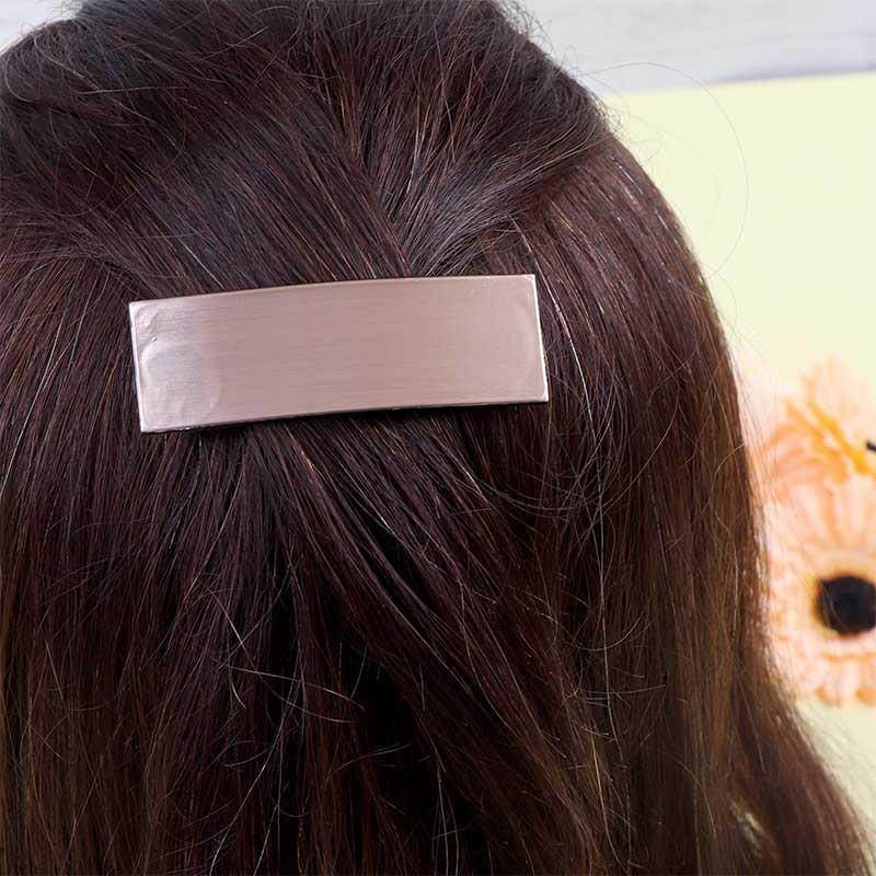 قطعتان من مشابك الشعر المستطيلة الانيقة ذهبي و اسود متجر 15 وأقل