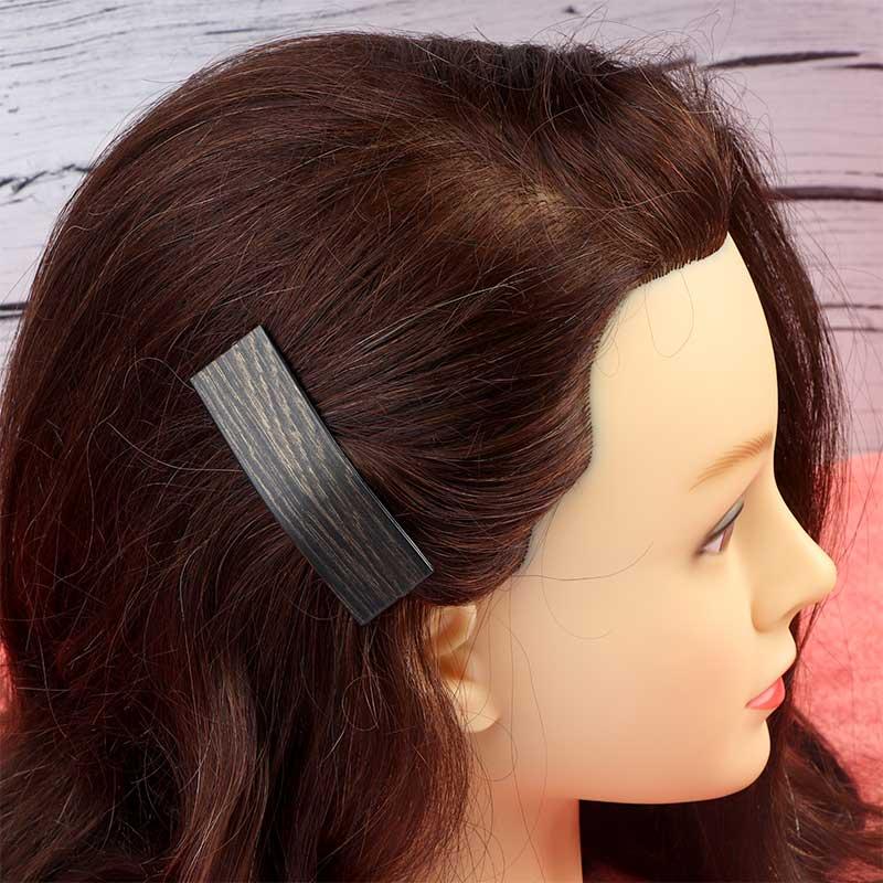 قطعتان من مشابك الشعر المستطيلة الانيقة فضي و بني متجر 15 وأقل