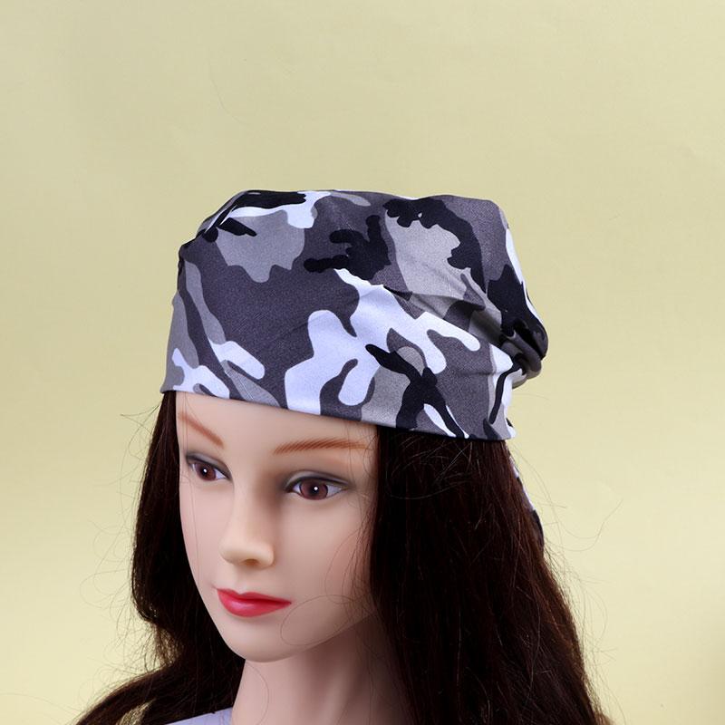 Black and white Army style hair bandana متجر 15 وأقل