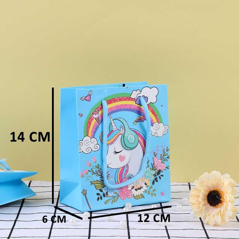 كيس هدايا أزرق صغير بتصميم رسوم كرتونية متجر 15 وأقل