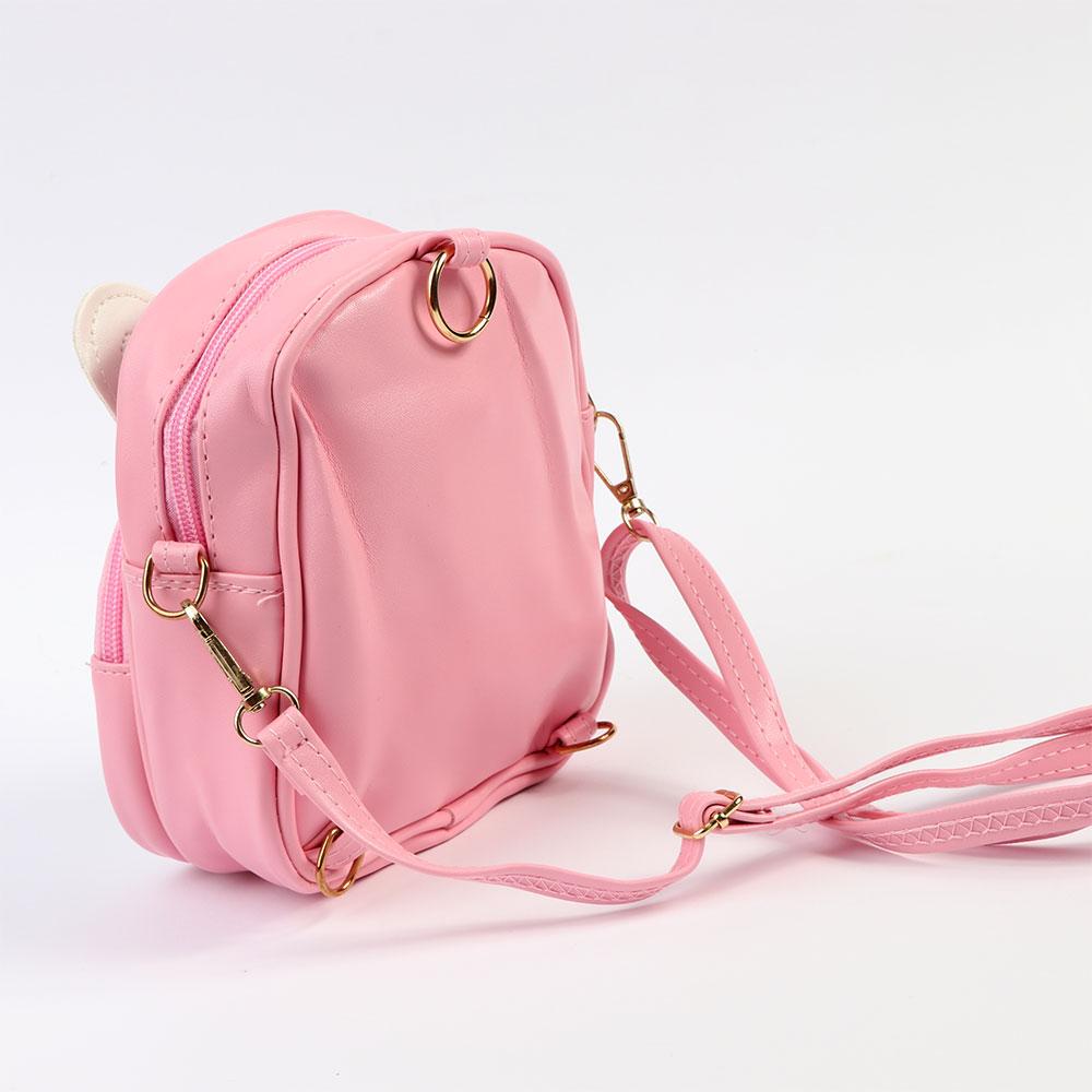 حقيبة ظهر صغيرة للبنات بنمط ارنب لون وردي متجر 15 وأقل