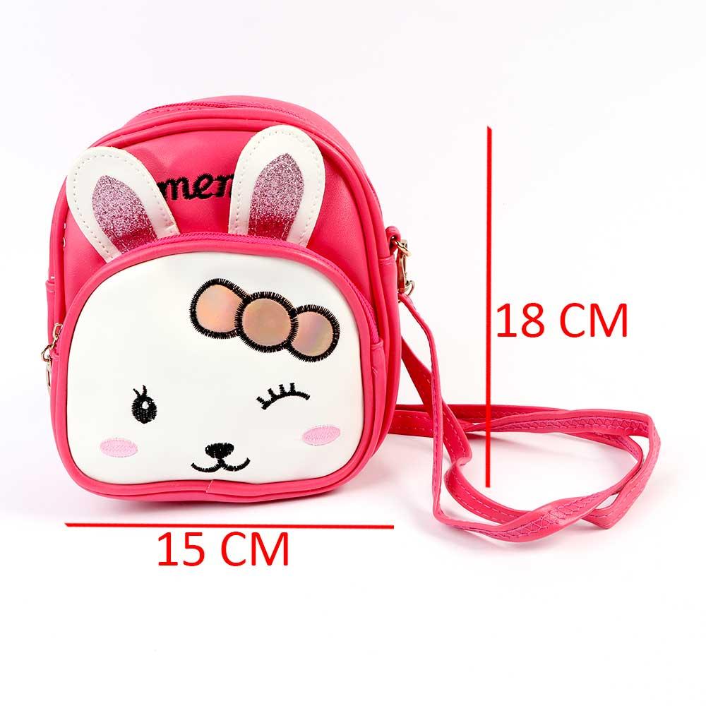 Mini Backpack For Girls Dark Pink Rabbit Pattern متجر 15 وأقل