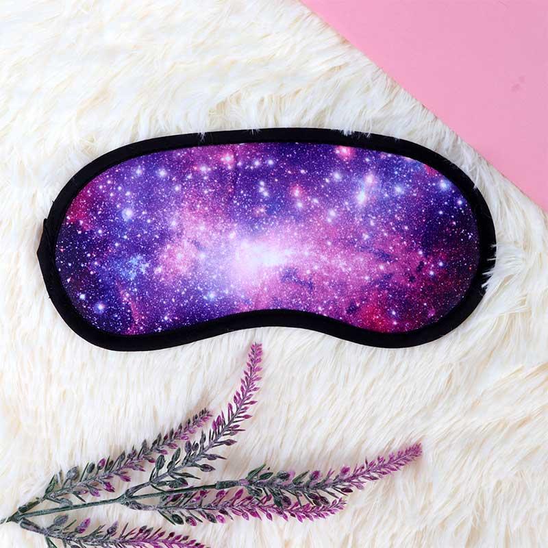غطاء العين لنوم مثالي نمط الفضاء - نجوم بنفسجي متجر 15 وأقل