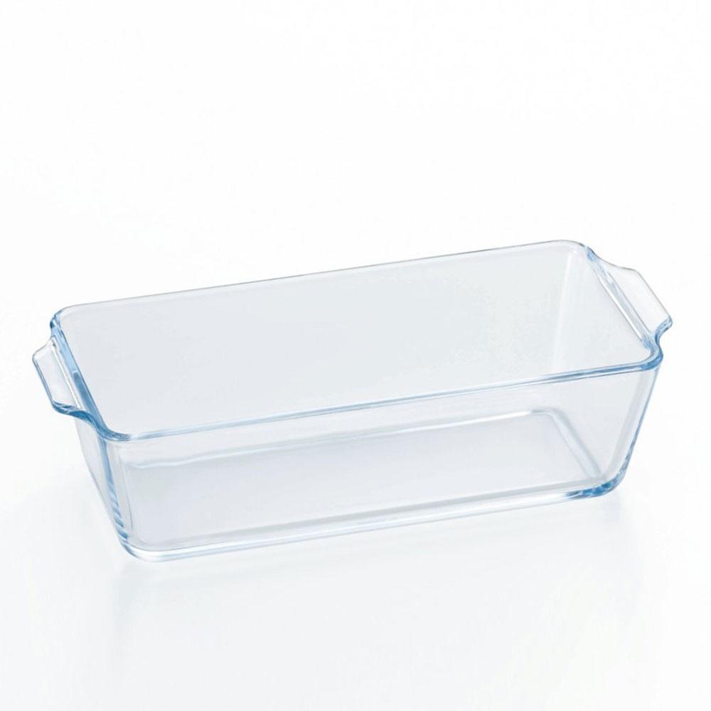 صحن زجاج بايركس بيد مستطيل الشكل متوسط الحجم شفاف اللون 23 سم متجر 15 وأقل