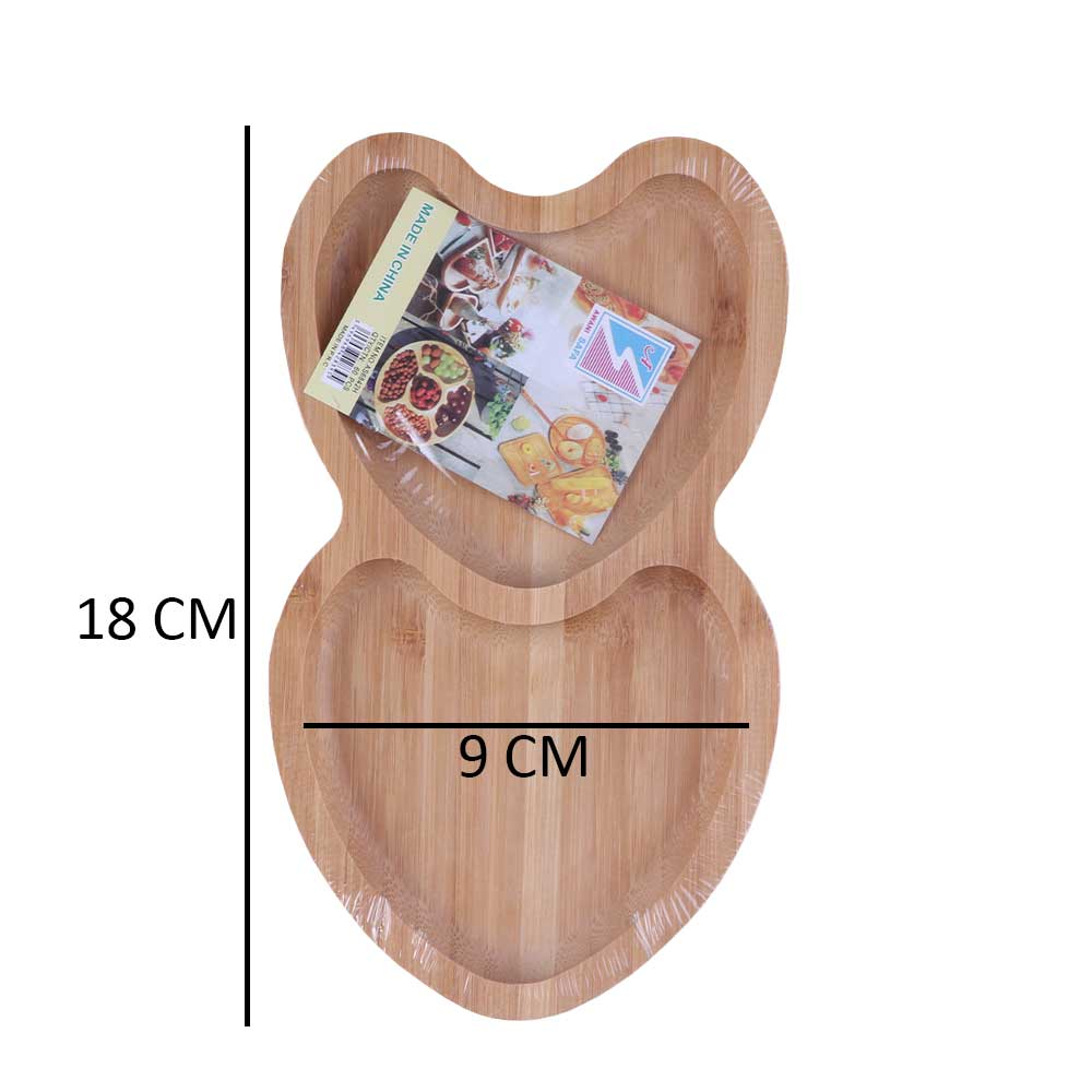 Small Dish To Serve Wooden Appetizers In The Form Of - Heart متجر 15 وأقل