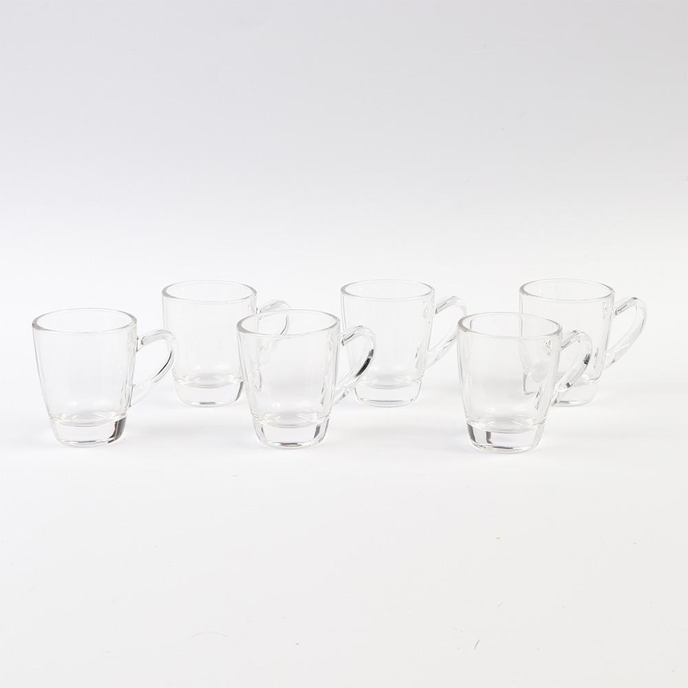 طقم بيالات للشاي والمشروبات الساخنة زجاج شفافة 6 قطع متجر 15 وأقل
