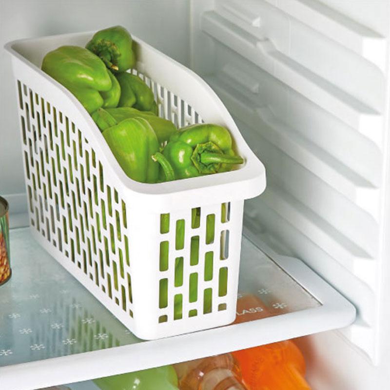 سلة تنظيم بلاستيك أبيض مكونة من قطعتين متعددة الأغراض ولحفظ الخضروات والفواكه متجر 15 وأقل