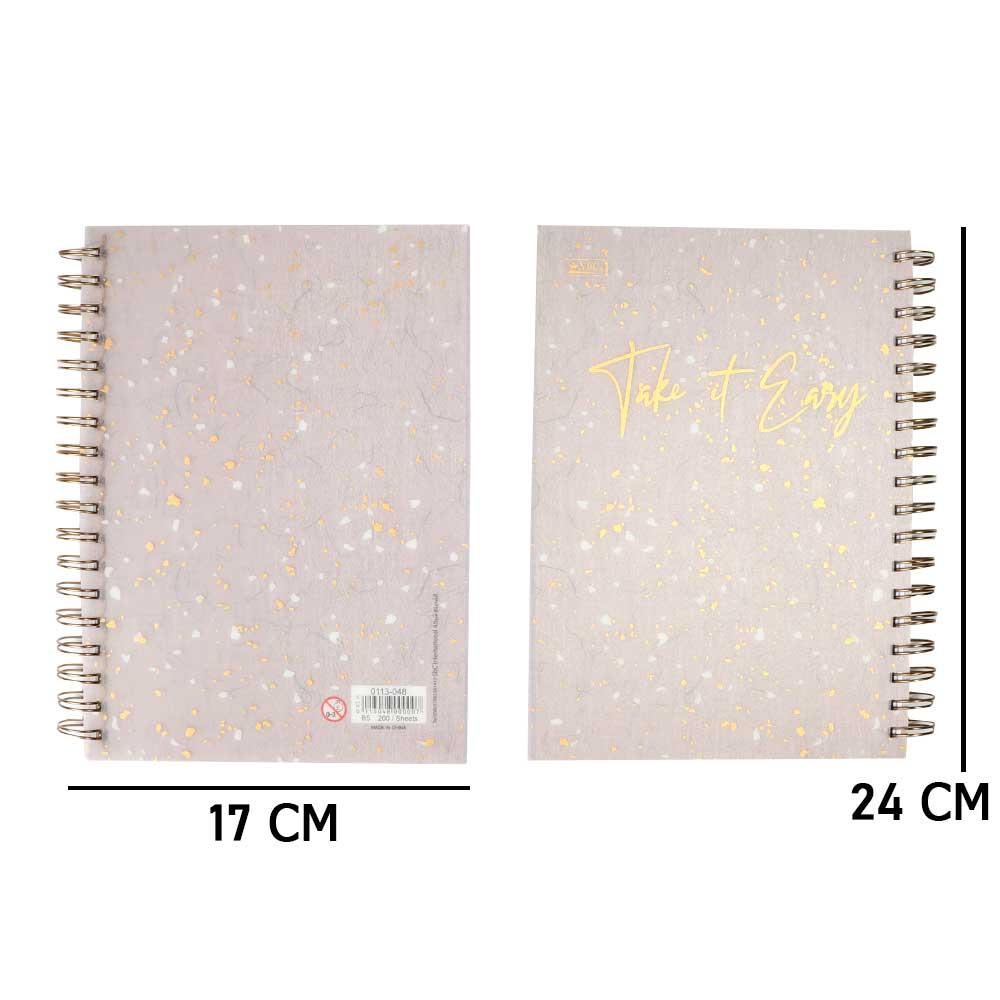 B5 دفتر سلك عربي مسطر 200 ورقة مع عبارة تحفيزية لون رمادي متجر 15 وأقل