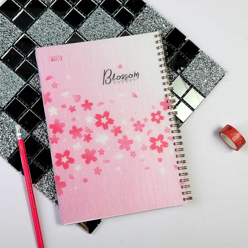 ِArabic Wire Notebook 100 Sheets B5 With Pink Roses متجر 15 وأقل