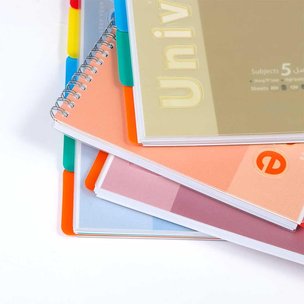 B5 دفتر سلك جامعي ب5 فواصل مسطر عربي 100ورقة لون أزرق متجر 15 وأقل