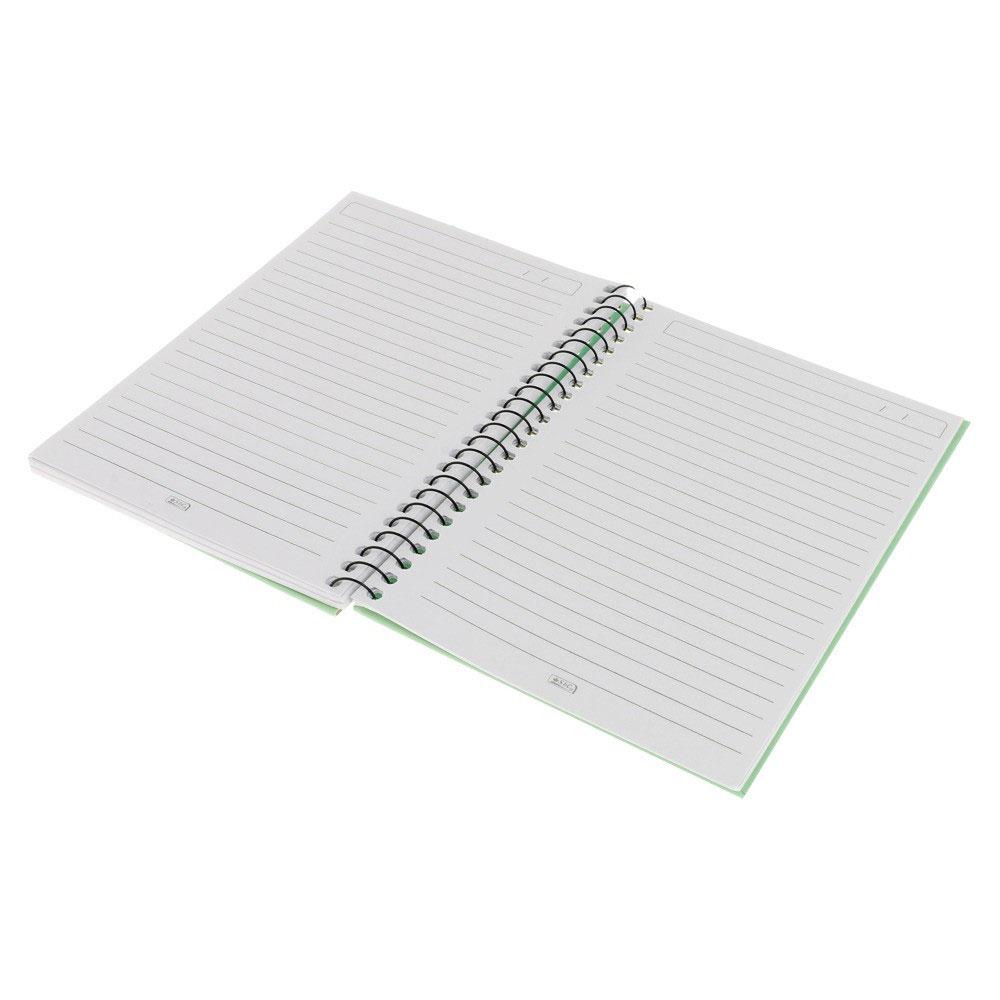 A5 دفتر ريكورد باستيل مسطر 60 ورقة بنمط رسمة يد وقلب أخضر متجر 15 وأقل