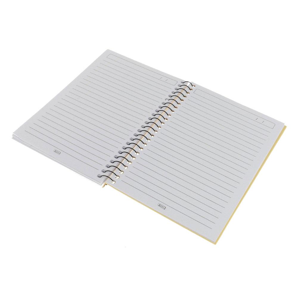 A5 دفتر ريكورد باستيل مسطر 80 ورقة بنمط رسمة يد وقلب أصفر متجر 15 وأقل