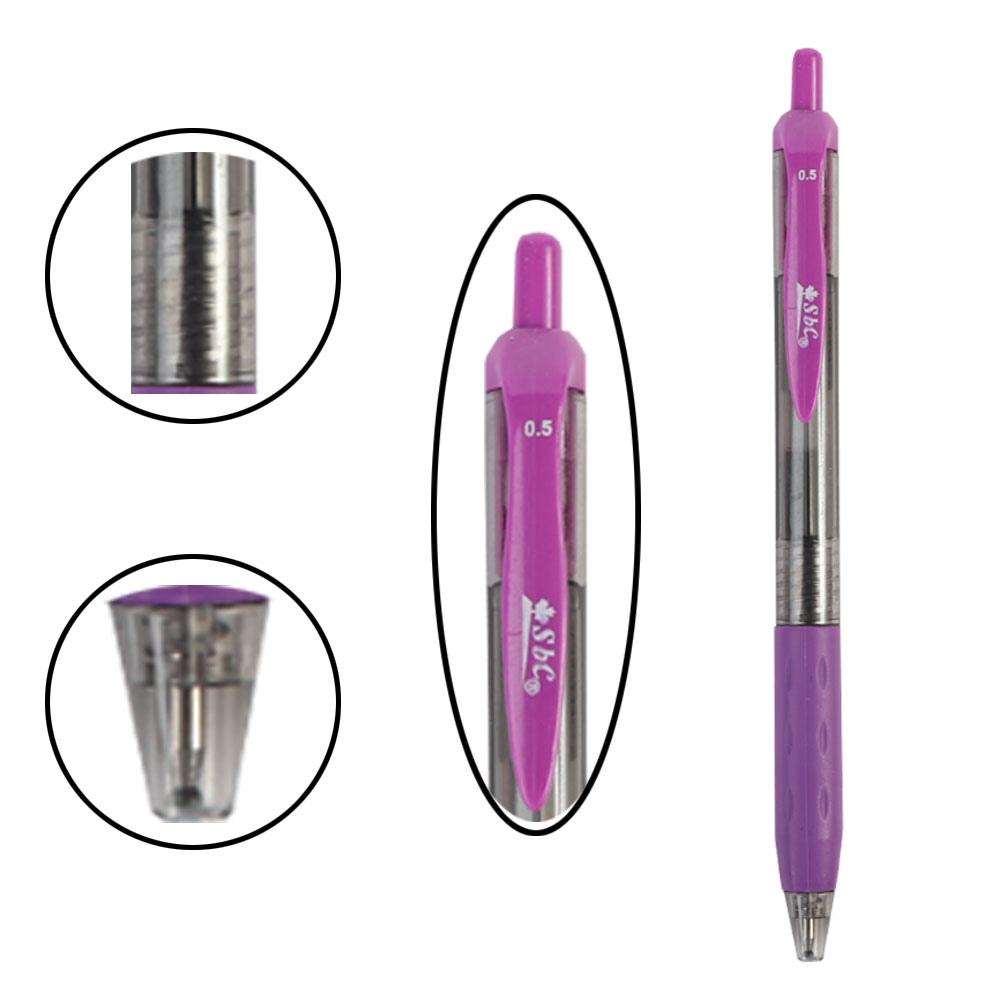 Purple Pen With Gel Ink Quick Drying 0.05 ML From SBC متجر 15 وأقل