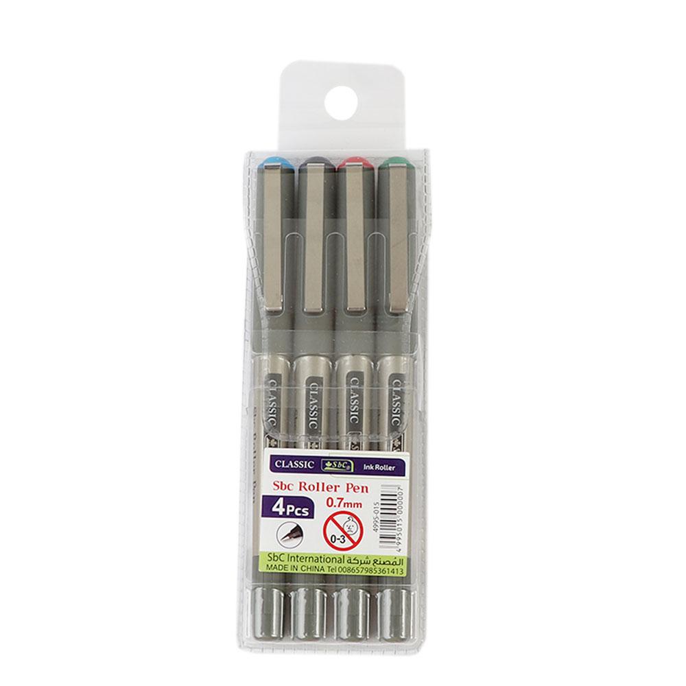 SBC طقم قلم سائل 4 الوان متنوعة متجر 15 وأقل