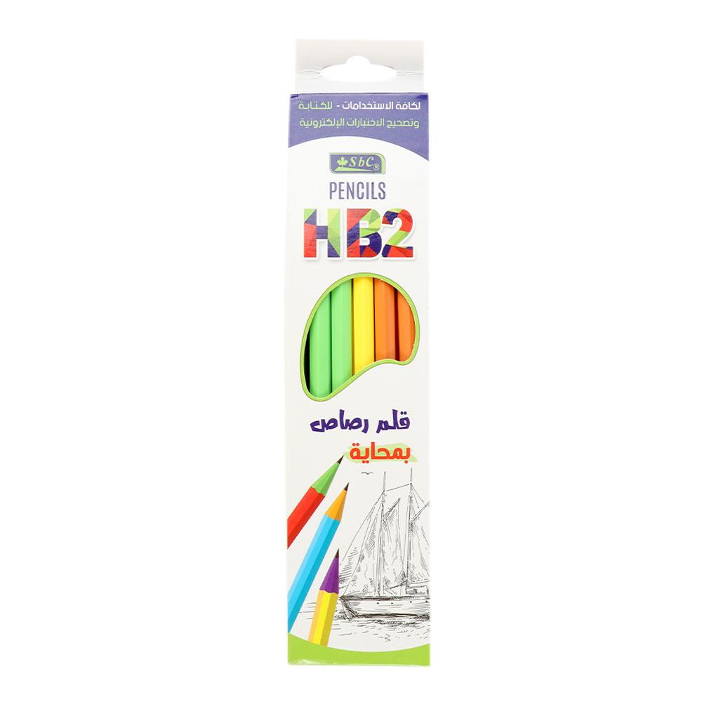 HB2 مجموعة أقلام رصاص فاخرة ملونة بمحاية مكونة من 12 قلم متجر 15 وأقل