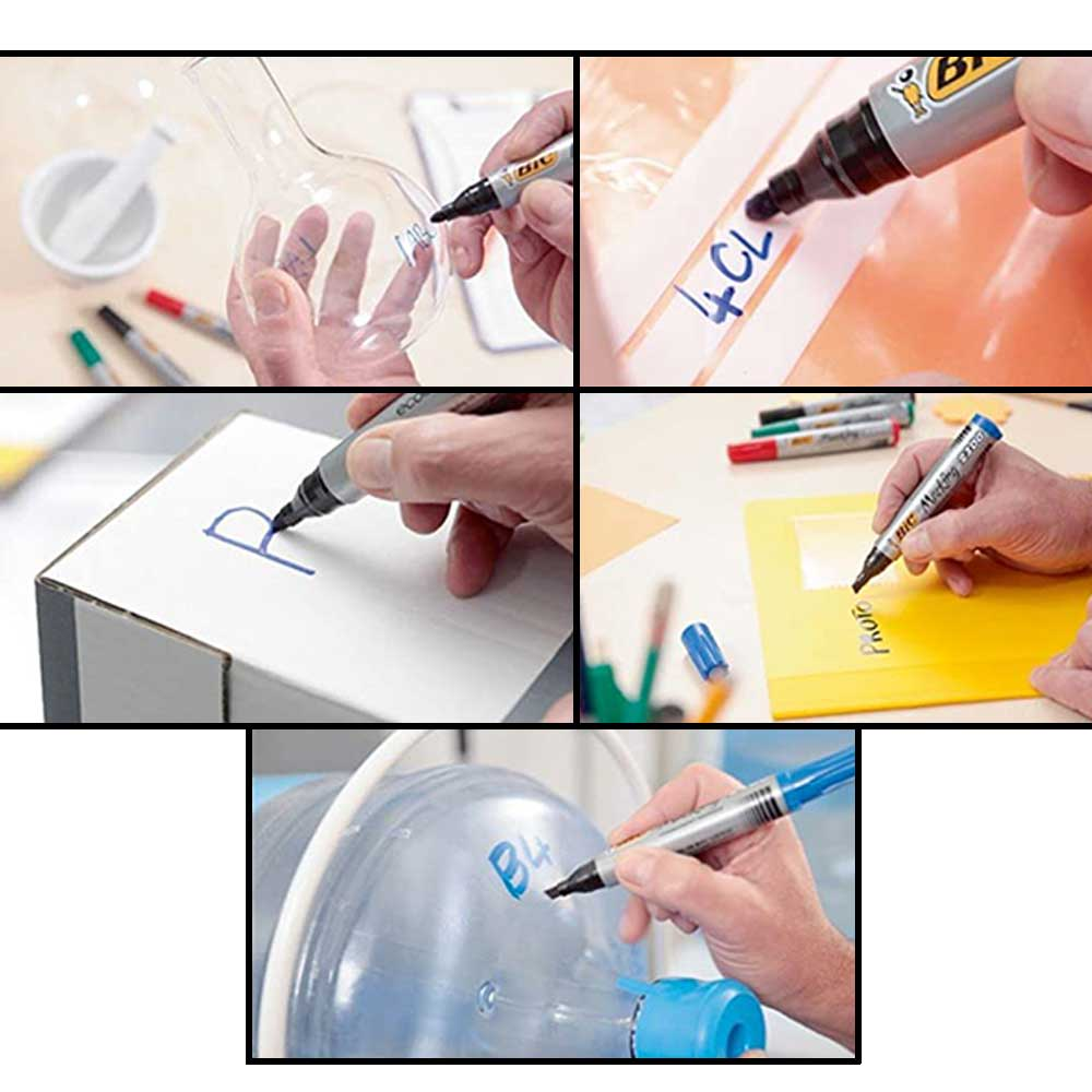 Bic Permanent Marking 2300 Pen - Blue color متجر 15 وأقل