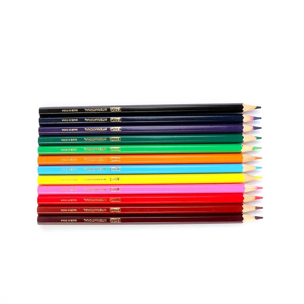 أقلام رسم خشبية محددة سميكة بألوان متعددة مكونة من 12 لون متجر 15 وأقل
