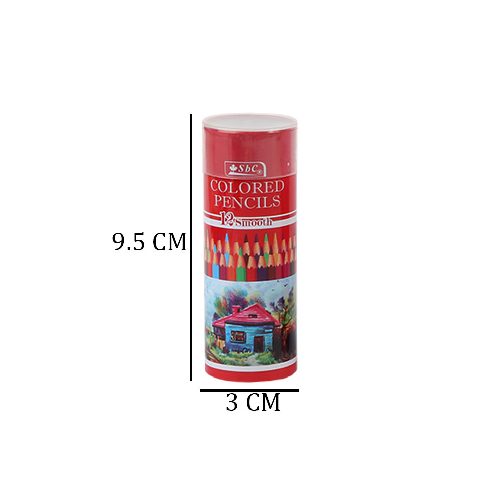 Tiny Cylinder Wooden Drawing Pens In Multiple Colors Of 12 Colors متجر 15 وأقل